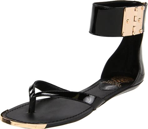 vince camuto sandals sale vince camuto kastern flat sandals in black lyst