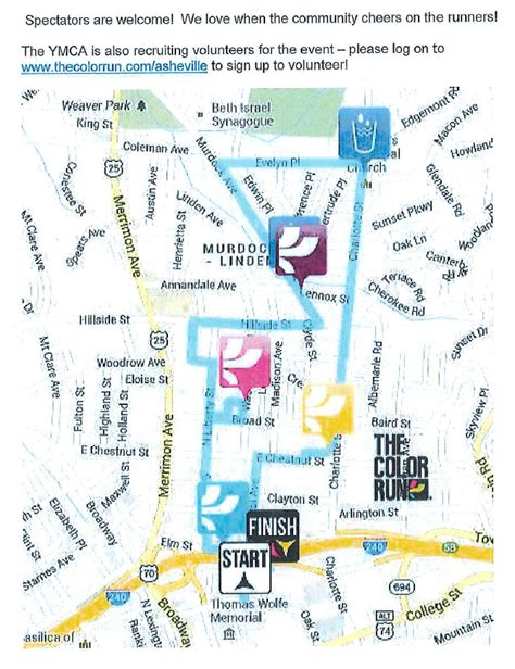 color run nc asheville streets buses to be impacted by color run