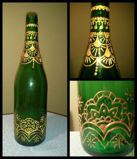 moroccan mystique upcycled green bottle with moroccan