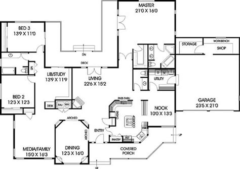 modern ranch floor plans ranch house plans home design lmk 335 250