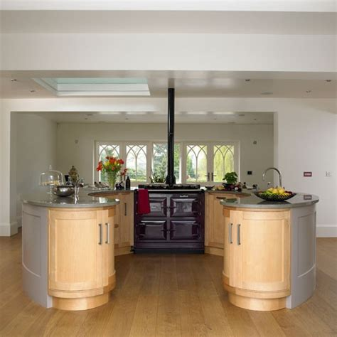circular kitchen island circular island unit classic farmhouse kitchen tour