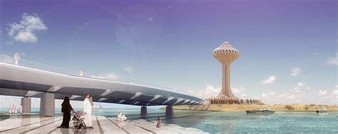 design concept khobar si architects corniche island seafront bridge and