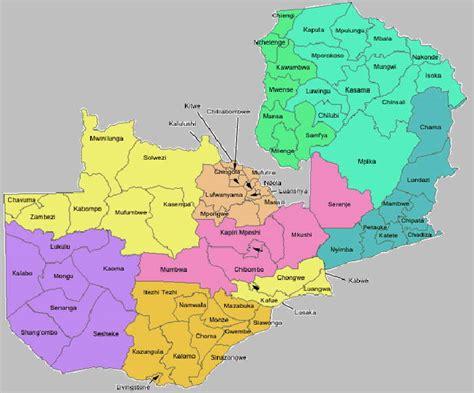 zambia  maps part  major maps  zambia  map