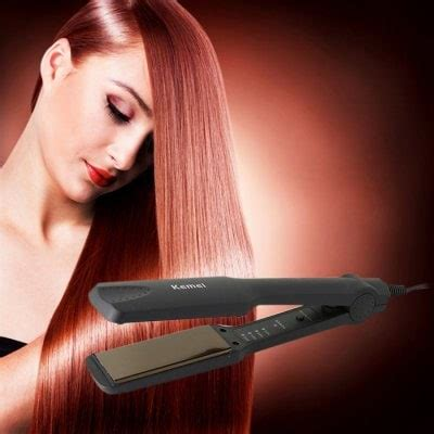 Kemei Profesional Hair Straightener Km 329 Black Murah gearbest shopping best gear at best prices