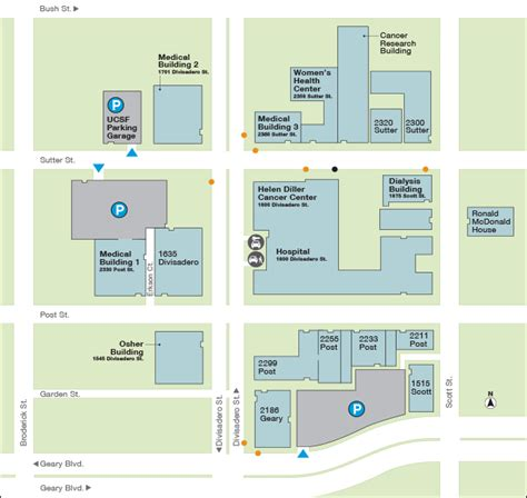 south san francisco kaiser map ucsf center at mount zion