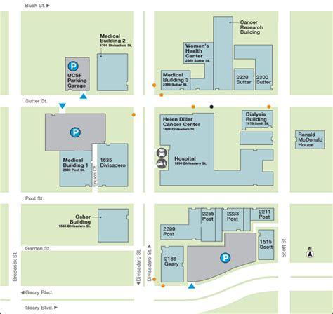 kaiser permanente san francisco map kaiser hospital san francisco map