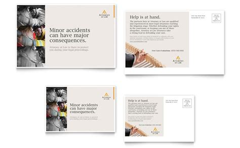 legal advocacy postcard template word publisher
