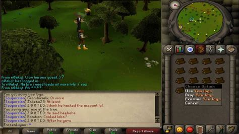 runescape2007 best place to cut yews at youtube