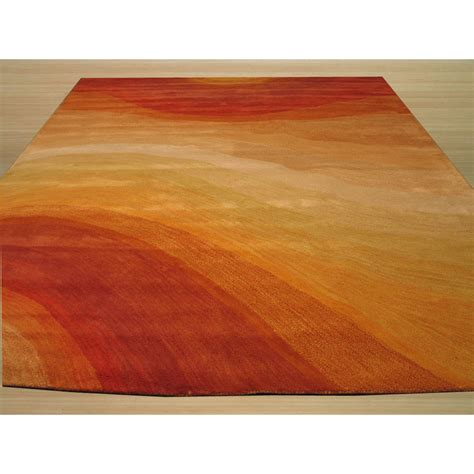 The Conestoga Trading Co Hand Tufted Orange Area Rug Orange Rugs