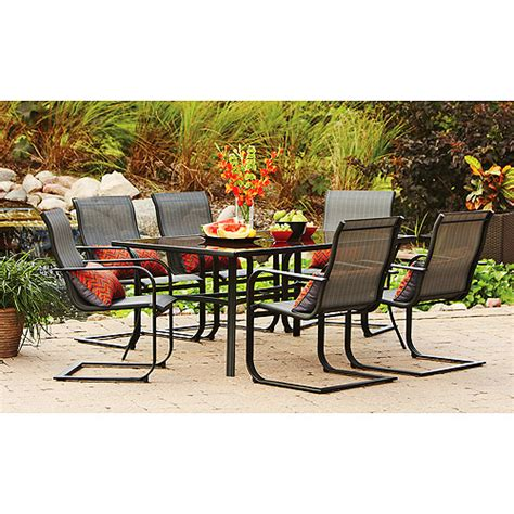 Walmart Patio Dining Sets Mainstays Pyros 7 Patio Dining Set Seats 6