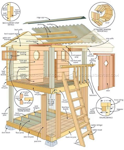 building plans homes free backyard playhouse plans woodarchivist