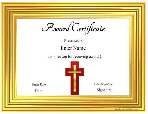 christian certificate templates christian certificate template customizable