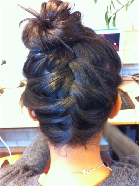 how to back your braids in doughnut bun by the sife back braided into bun hairstyles for long hair