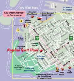 key west florida hotel map map of key west with location of guest house