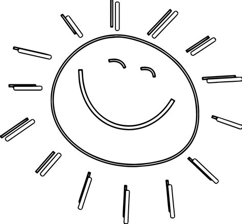 happy sun coloring page happy sun page coloring pages