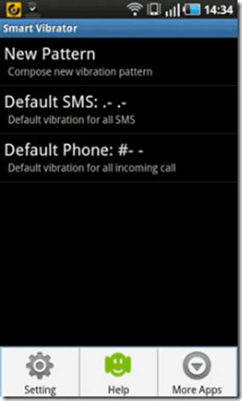 pattern vibrate android customize android phone vibrate pattern for calls sms messages