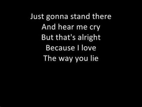 eminem love the way you lie lyrics eminem feat rihanna love the way you lie lyrics youtube