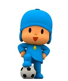 Make Wall Stickers world cup 2014 enjoy the best football with pocoyo