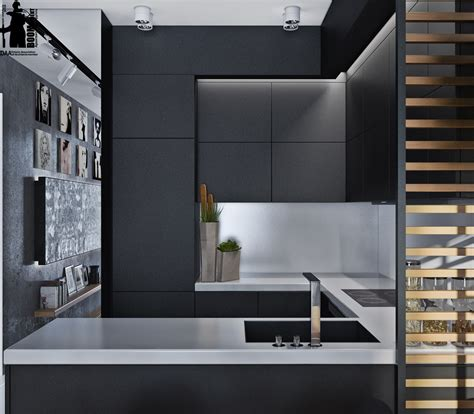 Kitchen Backsplash Mirror by Artistic Apartments With Monochromatic Color Schemes