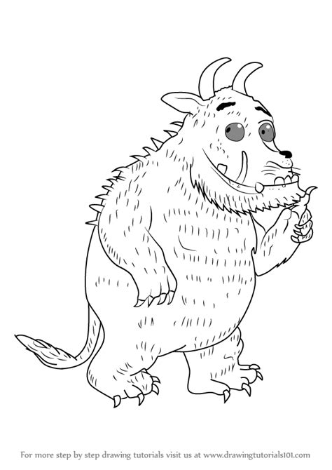 Learn How to Draw Gruffalo from The Gruffalo (The Gruffalo
