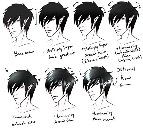how to color black hair how i color hair by blackwolf008 on deviantart