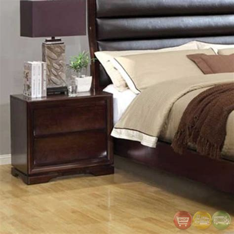 Padded Headboard Bedroom Sets by Kozani Transitional Walnut Bedroom Set With Padded