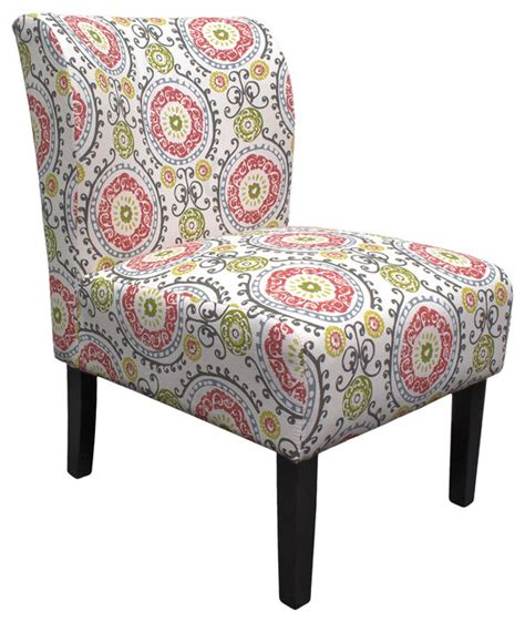 floral accent chairs living room floral eggshell armless living room accent chair