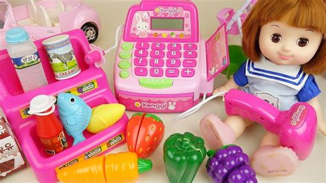doll mart baby doll mart and register with food toys babydoli play
