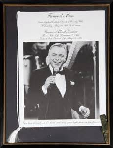 frank sinatra funeral program and ephemera current price