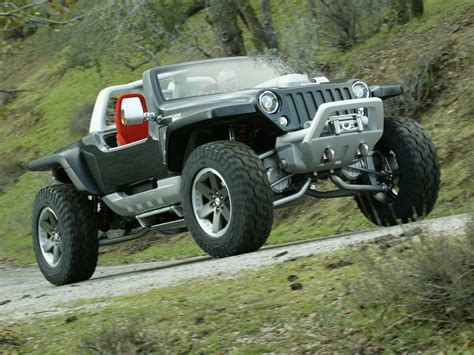 jeep concept vehicles jeep hurricane concept 4x4 with two hemi engines cars