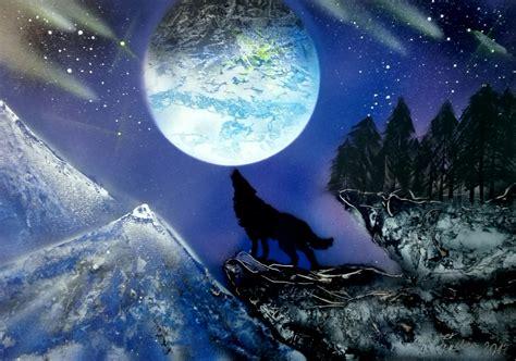 spray paint wolf wolf moon spray paint spray paint