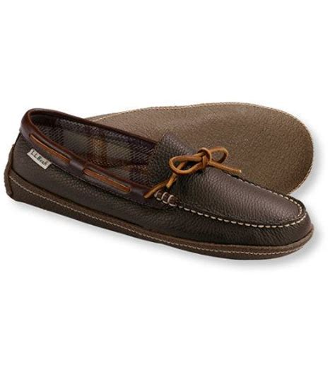 ll bean slippers mens s handsewn slippers flannel lined slippers free