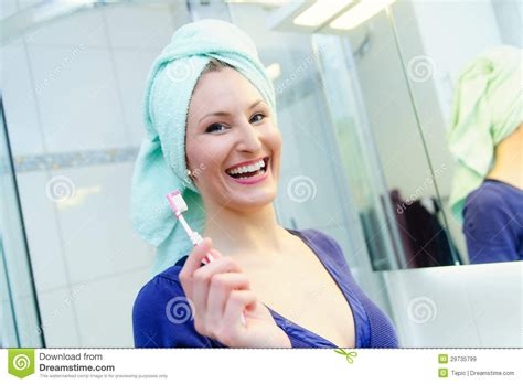 pretty woman bathtub pretty woman with a toothbrush royalty free stock images