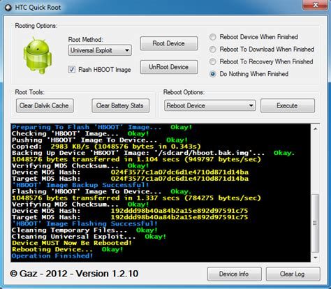 universal android root root all htc android devices using new htc root tool
