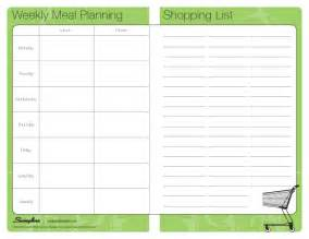 Home Menu Template by Meal Plan Shop List Laminating Templates