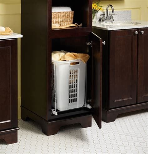 bathroom storage with laundry bin laundry her pull out bathroom vanities and sink