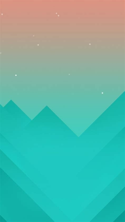 wallpaper flat polygons   mountains iphone