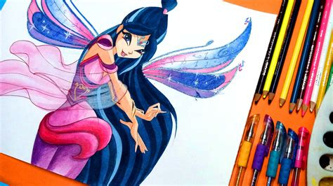 painting winx club how to draw winx club musa bloomix speedpainting