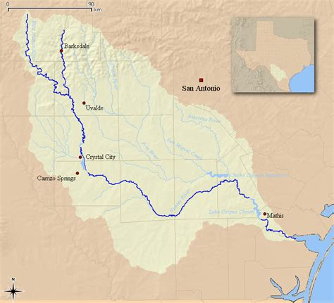 texas watershed map nueces river