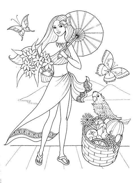 fashionable girls coloring pages gif  digi