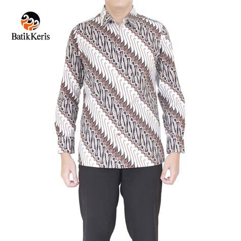 Kemeja Milo 1 kemeja batik slimfit lengan panjang motif parang panca
