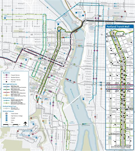 portland transit map portland max map with streets afputra