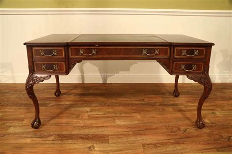 leather top writing desk chippendale writing desk with leather inset top