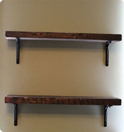 rustic wood shelf brackets by the reclaimed wood