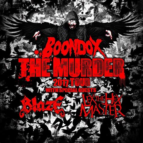 the murder at the boondox s the murder tour announced faygoluvers