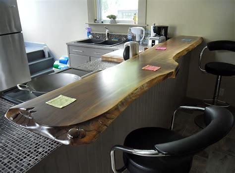 spar urethane bar top carved live edge bar top
