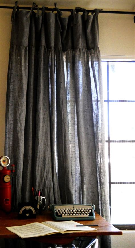 black linen drapes 25 best ideas about dark grey curtains on pinterest