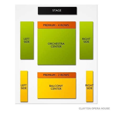 clayton opera house clayton opera house seating chart vivid seats
