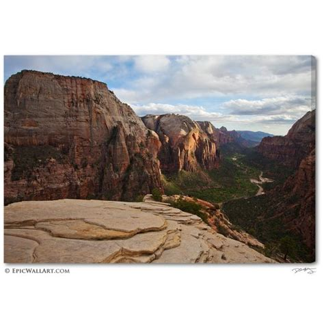canvas zion quot zion valley sunset quot utah fine art gallery wrapped canvas