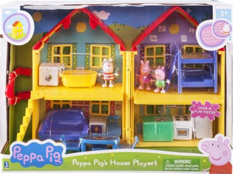 peppa pig house playset peppa pig peppa s deluxe house playset 681326926207 item barnes noble 174